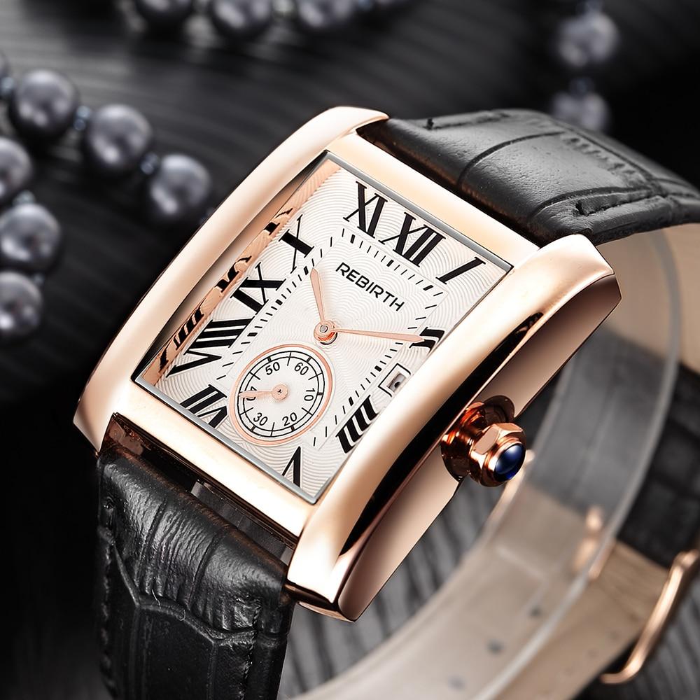 Montre Femme REBIRTH New Creative Vintage Women Watches Ladies Casual Leather Quartz Watch Women Clock Reloj Mujer Wrist Watch