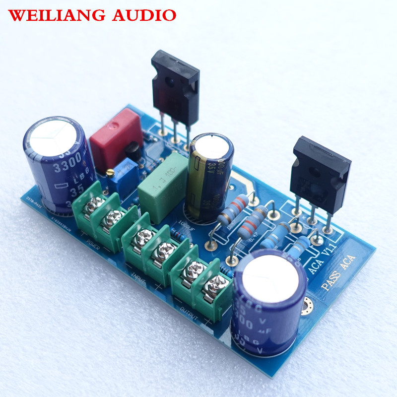PASS power amplifier finished board 5w *2 class A DC 20v -28v power supply image