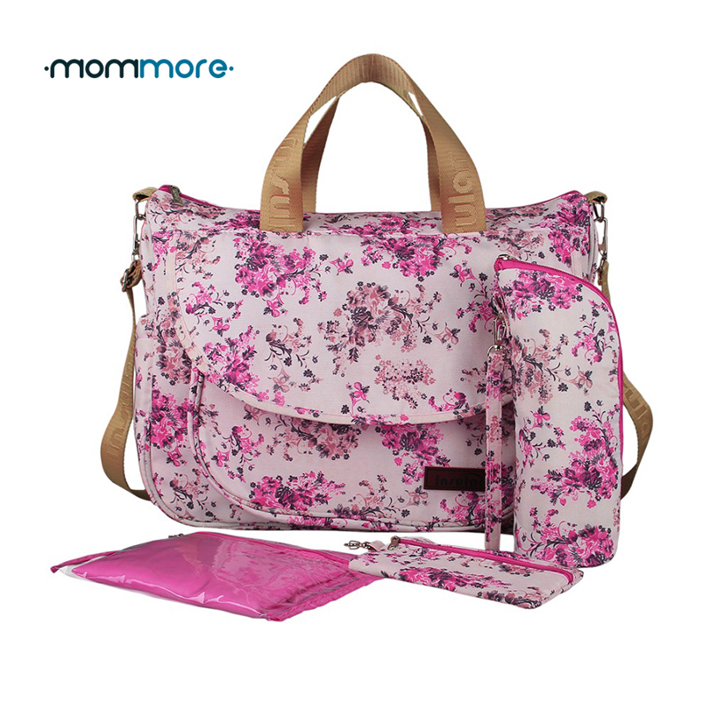 Mommore 5 teile / satz Multifunktionale Bolsa Maternidade Baby Wickeltasche Mutterschaft Dame Mamabeutel Messenger Windeln Tasche