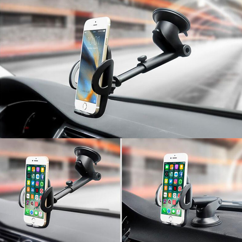 Car Phone Holder Dashboard Windshield Mobile Stand for iphone x 8 Support 360 Rotation Suction Cup Navigation Car Holder Support