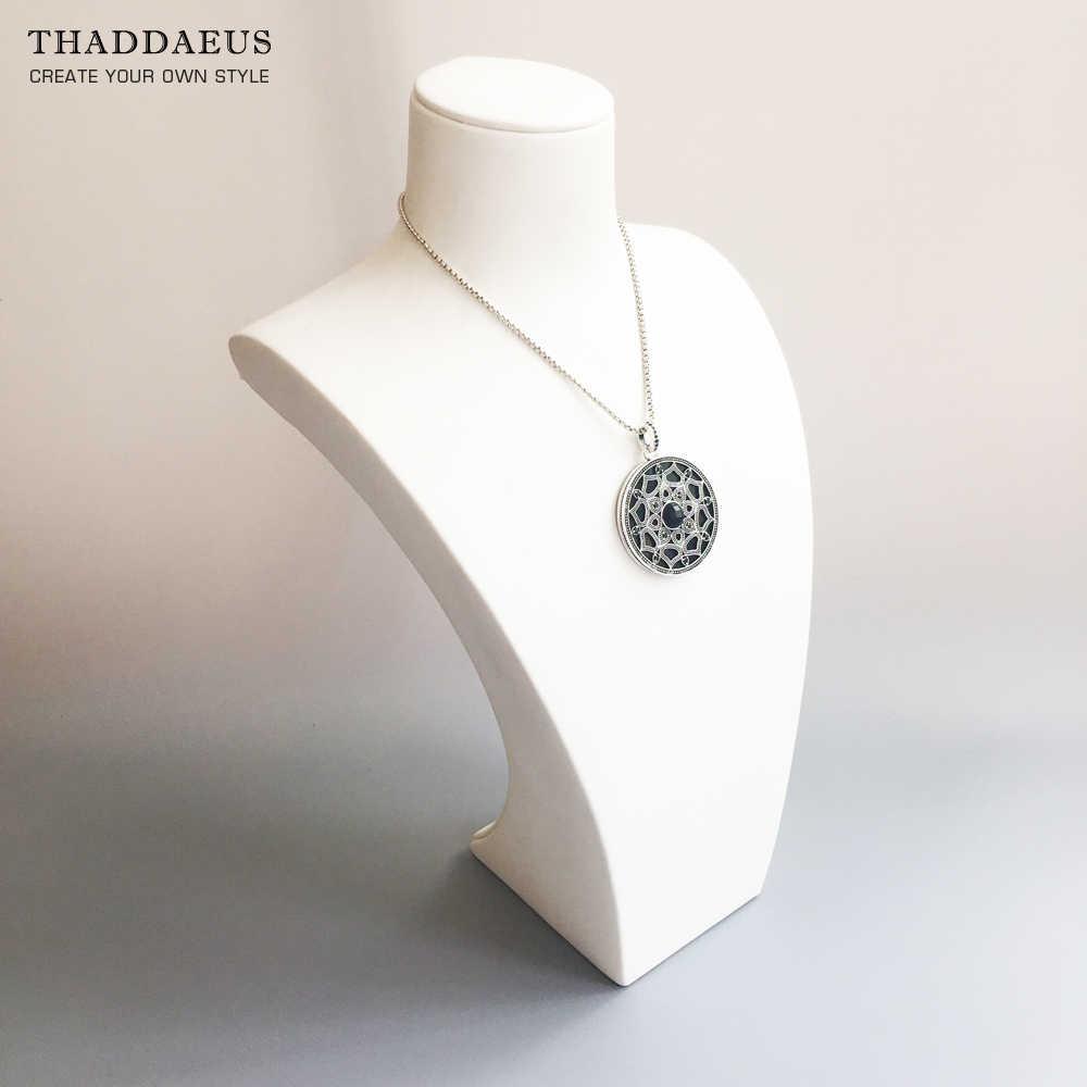 Pendant Black Royal Lotos Amulet,2017 Brand New Fashion Jewelry Thomas Style Bijoux Trendy Silver Gift For Ts Woman