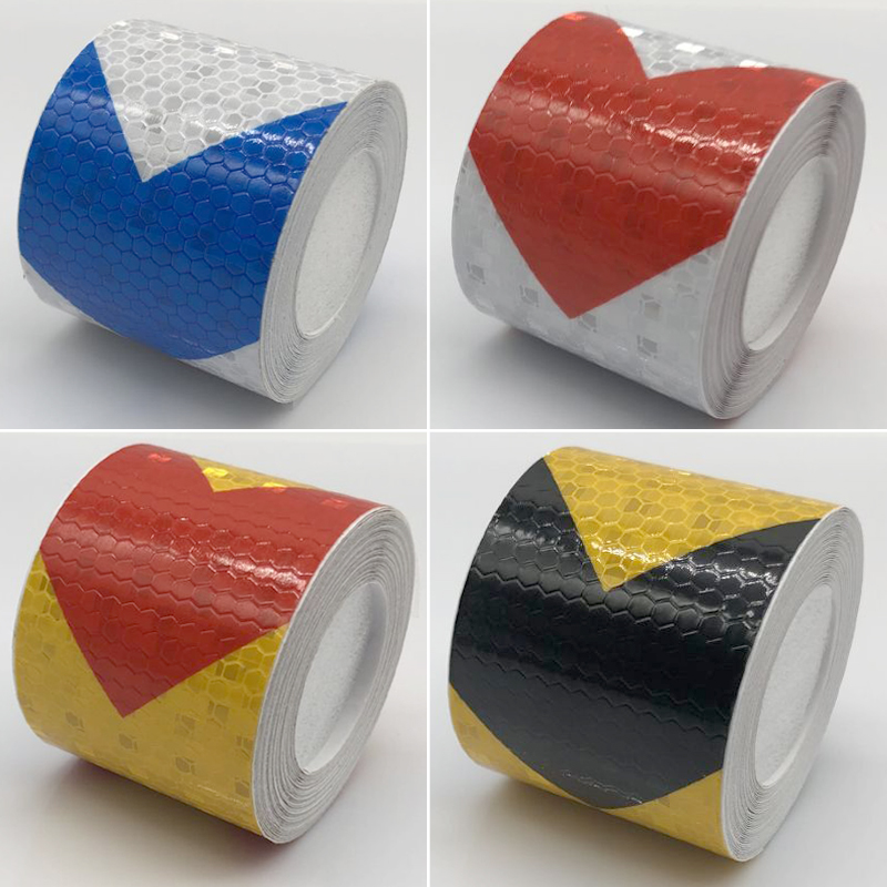 50mmx1m Reflective Warning Tape Self Adhesive Sticker Arrow Printing For Car& Motorcycle
