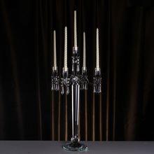 Разборные стеклянные подсвечники элегантные хрустальные канделябры