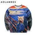 Мужчины/женщины 3d кофты новый дизайн толстовки смешно печати животных кошка красочный полосатый осень топы пуловер спортивные костюмы