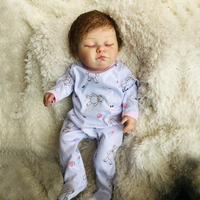 20 дюймов полное тело силиконовые куклы reborn Младенцы Спящая настоящая reborn bathe игрушки лучший рождественский подарок на день рождения bonecas иг