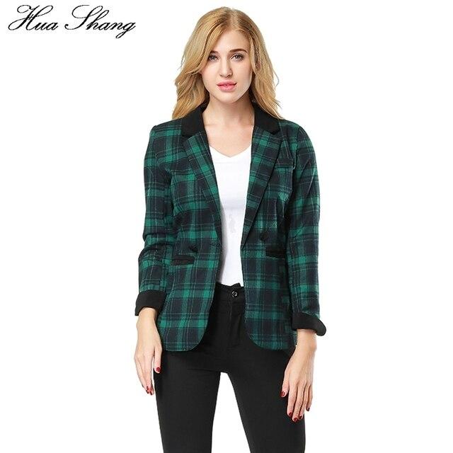 fd545ab802f56 Women Plaid Blazers And Jackets Suit Ladies Long Sleeve Work Wear Office  Blazer Plus Size Casual Female Pockets Outerwear Coat