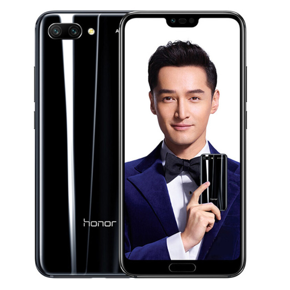 HUAWEI HONOR 10 4 gb RAM 128 gb ROM Hisilicon Kirin 970 2.36 ghz Octa Core 5.84 pouce IPS Plein écran Android 8.1 4g LTE Smartphone