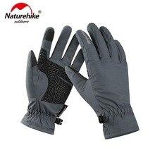 Naturehike GL-04 Сенсорный экран перчатки открытый Wnter теплые велосипедные перчатки ветрозащитные походные перчатки NH18S005-T