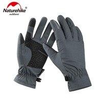 Naturehike GL-04 tela sensível ao toque luvas ao ar livre wnter quente ciclismo luvas à prova de vento caminhadas NH18S005-T