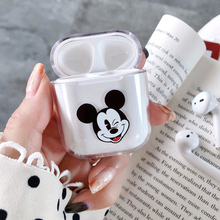 Cute cartoon Minnie Mickey Hard PC Bluetooth Wireless Earphone Cases For AirPods 1 Case Protective Cover clear Airpods2