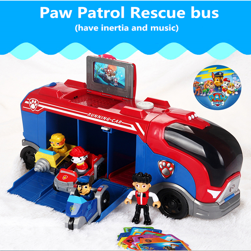 287aff01d30 Paw Patrol Dog Sliding Team Big Truck Toy Rare Music Rescue Team Toy  Patrulla Canina Juguetes Action Figures Toy gifts Best Set - aliexpress.com  - imall.com