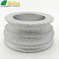 DIATOOL Dia75mmX35mm Diamond Profile Wheel For Angle Grinder, Vacuum Brazed Diamond Grinding Wheel