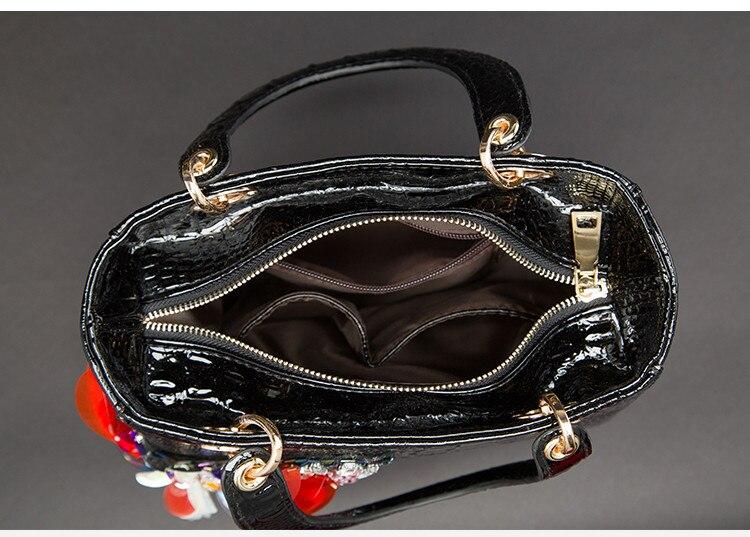 Image 5 - 2020 Luxury fashion diamonds Womens handbags butterfly drill  rhinestone shoulder messenger bag Crocodile pattern crossbody  bagsShoulder Bags