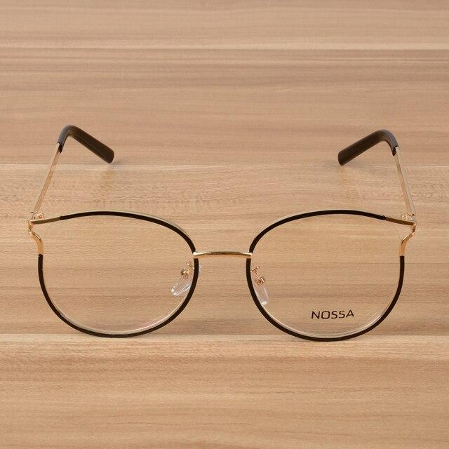 fda0b1441b NOSSA Fashion Prescription Eyeglasses Frames Elegant Alloy Optical Frame  Women And Men Spectacles Unisex Myopia Glasses