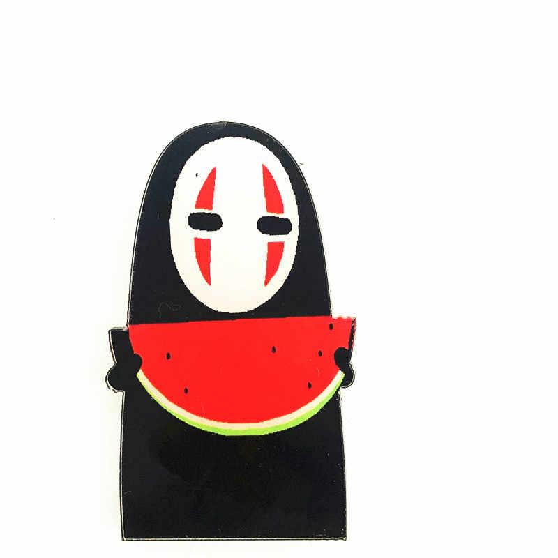 1 قطعة جميلة الكرتون لا وجه رجل الاكريليك بروش Kawaii شارات ظهره ملابس النساء الديكور أيقونة دبابيس دبوس للأطفال هدية