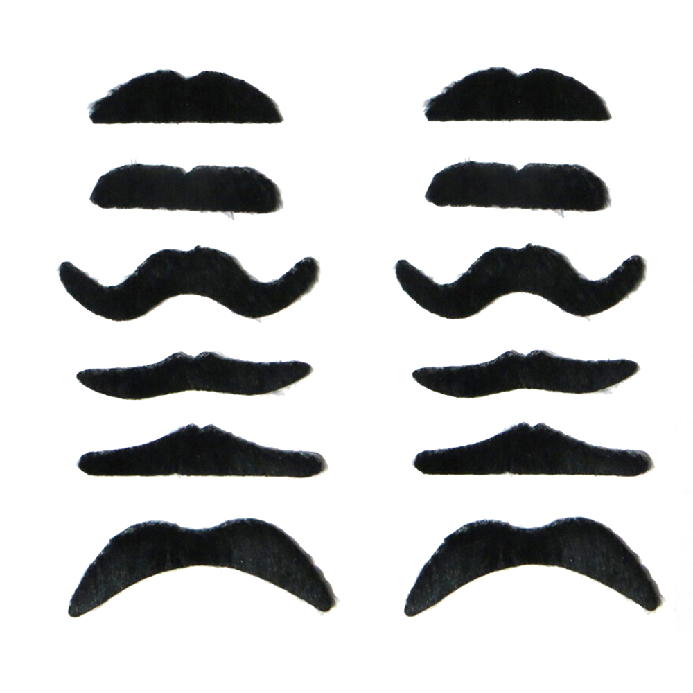 12PCS Party Favors Funny Fake Mustache Moustache Fake Beard Whisker ...