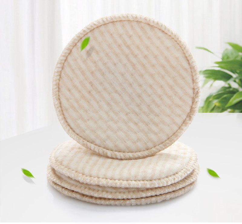 4pcs Natural Colored Cotton Baby Feeding Breast Pad Washable Nursing Pad Soft Absorbent Reusable Anti-overflow Maternity Pad
