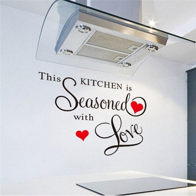 1 Stück Wandaufkleber Diese Küche Sprüche Wandtattoo Küche PVC Aufkleber  Kunst DIY Wohnzimmer Dekoration Aufkleber YL872844