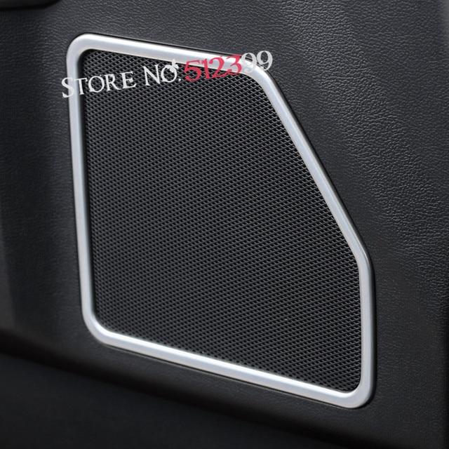 4PCS Bright / Matte Chrome ABS Interior Door Speaker Decoration Cover Trim For Ford F150 F & 4PCS Bright / Matte Chrome ABS Interior Door Speaker Decoration ...