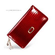 Long patent leather handbags crocodile grain, Women purse, leather wallet, high-end leather handbag, factory direct sale HA035