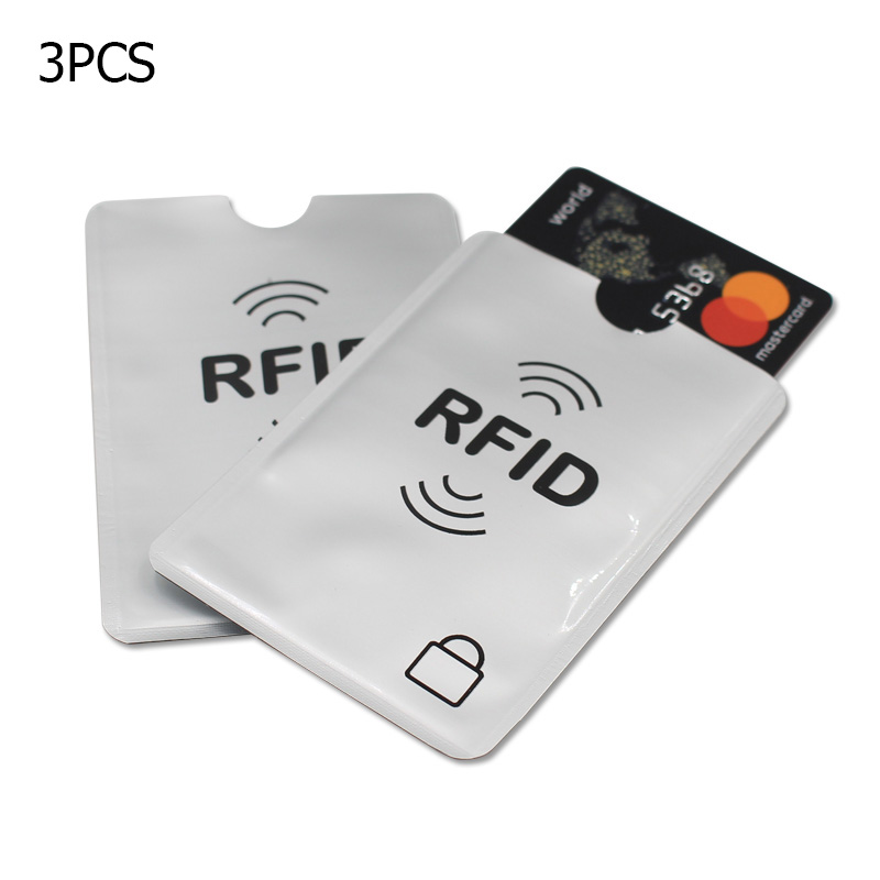 3pc/Lot New Aluminum Anti Rfid Reader Blocking Bank Credit Card Holder Protection New Rfid Card Reader Metal Credit Card Holder