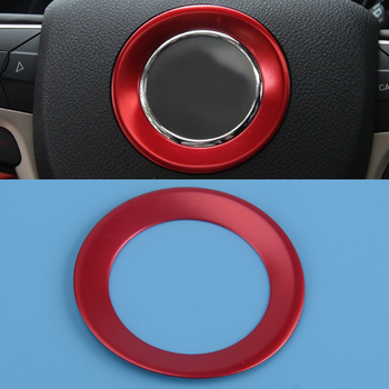 DWCX Red Interior Steering Wheel Center Decoration Cover Trim Car Styling Accessories Fit for Jeep Grand Cherokee image