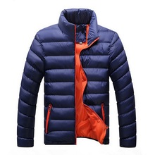 Laamei Winter Jacket Men 2018 Fashion Stand Collar Male Parka Jacket Mens Solid Thick Jackets and