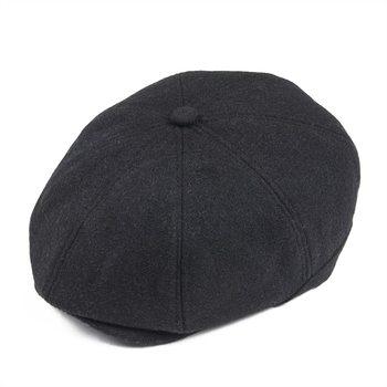 VOBOOM negro Tweed de lana gorra de repartidor de los hombres planos de las  mujeres Ivy tapas de espiga sombrero de taxista 8 Panel Boina chico Baker  Boina ... 6a4204ea131