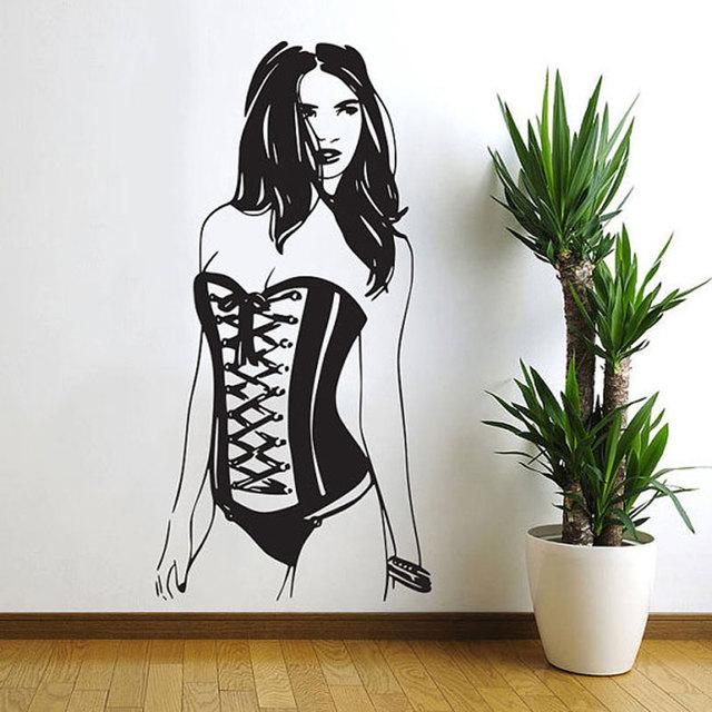 Sexy Woman Pin up Girl Wall Decal Art Decor Sticker ...