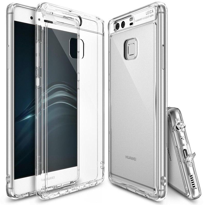 bilder für 100% Original Ringke Fusion Klar PC Zurück Flexible TPU Rand Dämpfung Tropfen Widerstand Fall Für Huawei P9