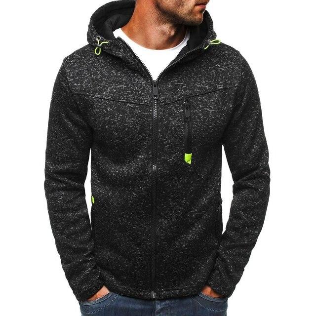 Plus Size 3XL Men Hoodies 2018 Autumn Winter Hooded Sweatshirts Slim Zipper Mens Coat Bomber Jackets Sportwear Moletom Cardigan 3