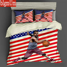3D Bedding Set 3pcs Creative Design Sports Basketball Soccer Driving Duvet Cover Pillowcases UK FR GER Size Single Double King(China)