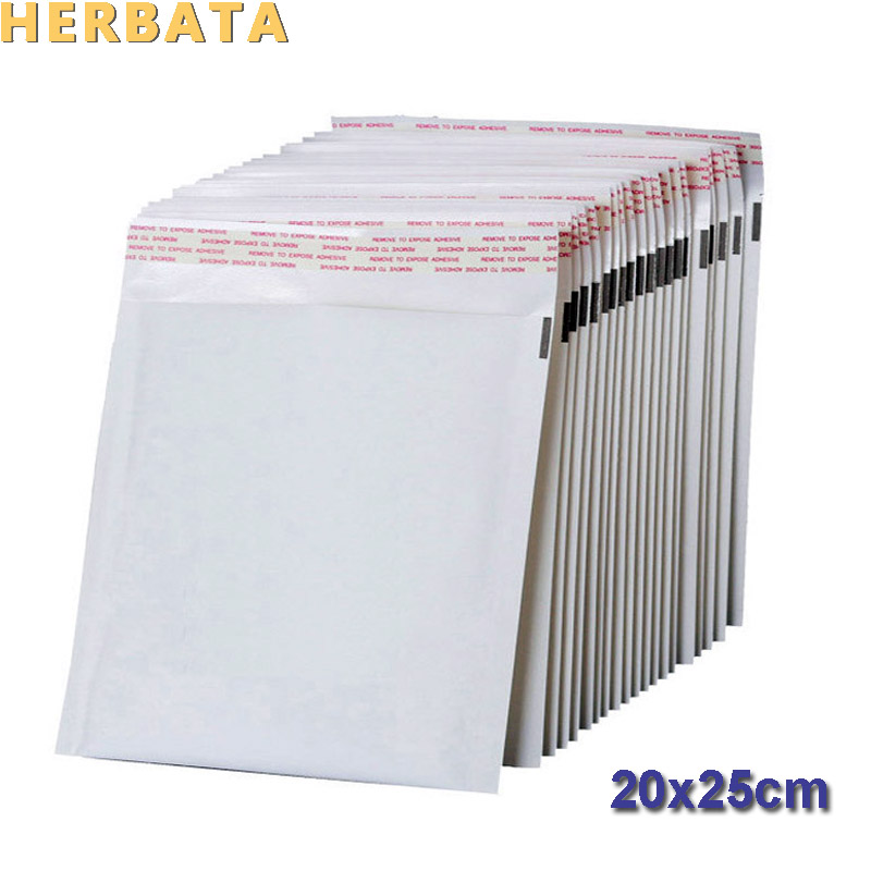 HERBATA (200*250mm) 10pcs/lots White Pearl Film Bubble Envelope Courier Bags Waterproof Packaging Mailing Bags CL-2022-C