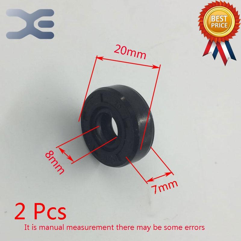 2Pcs Breadmaker Sorbet Machine Repair Parts Oil Seal Ring TC Inner Diameter 8 Outer Diameter 20 Thickness 7 Wearable For LG