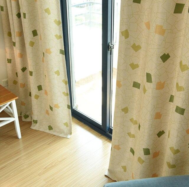 Rubik\'s Cube rideaux flottants produits finis lumière complète tissu  chambre salon Simple moderne fraîche