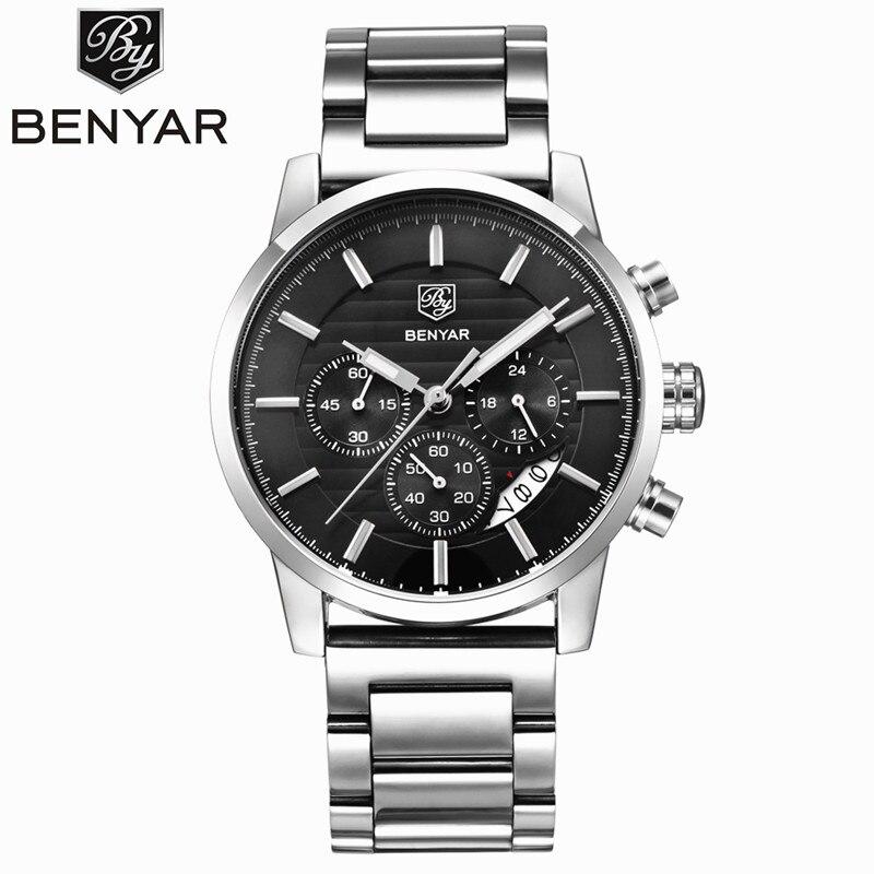BENYAR Waterproof Mens Watches Top Brand Luxury 2017 Men's Watches Quartz-watch Wrist Watches For Men