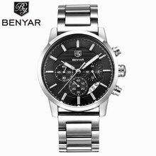 BENYAR Étanche Hommes Montres Top Marque De Luxe 2017 Hommes de Montres À Quartz-montre-Bracelet Montres Pour Hommes