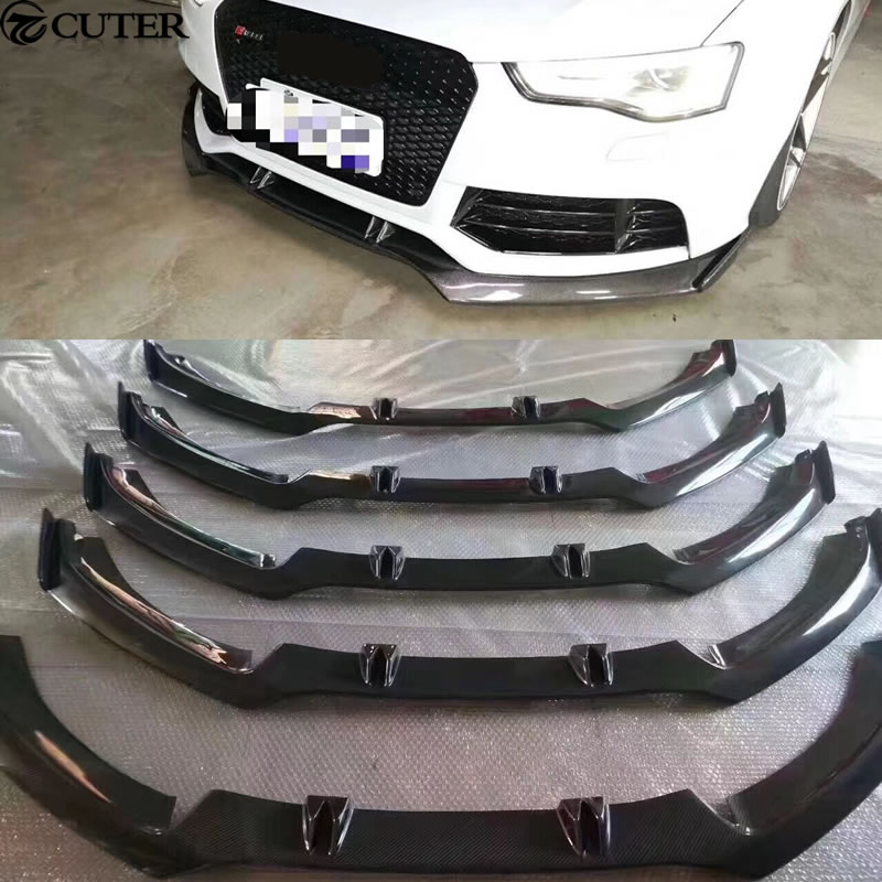 A6 RS6 Carbon Fiber Car Body Kits front bumper front lip for Audi A6 RS6 Car body kit 13 ...