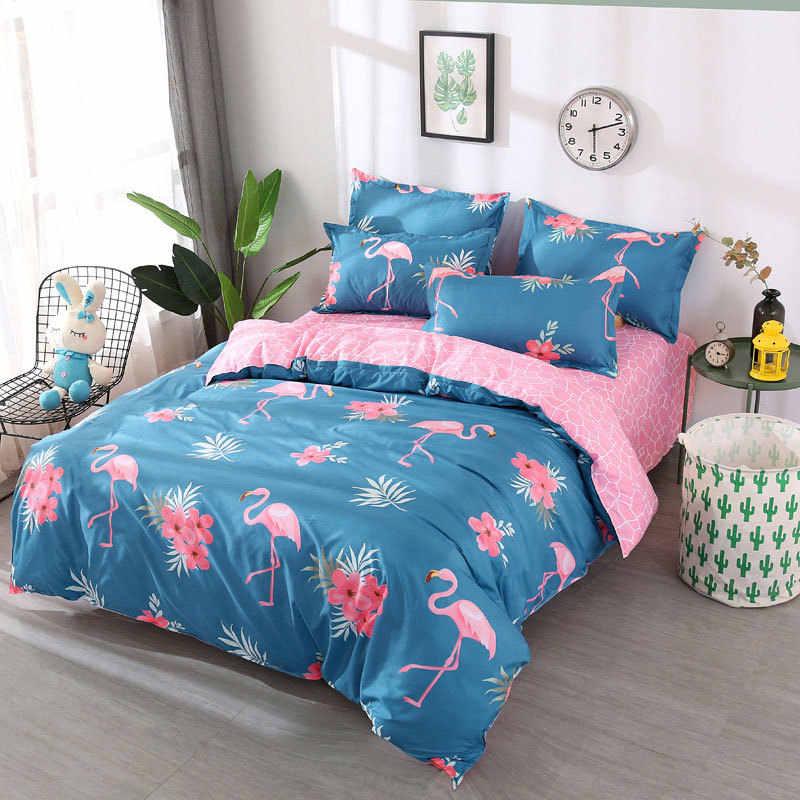Corona 4 Uds niña niño chico cubierta de cama de conjunto de dibujos animados funda nórdica para cama de niño sábanas y fundas de edredón de cama 2TJ-61003