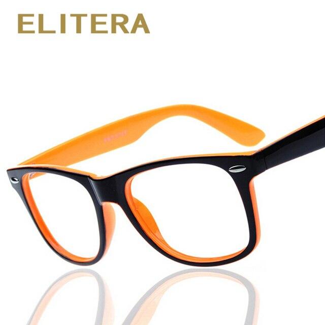 ELITERA fashion big glass frame without lenses round eye glasses ...