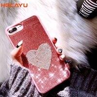 HOCAYU Luxury Jewelry Women Handphone Case For Iphone X 7 7plus 8 8plus 6 6s 6plus