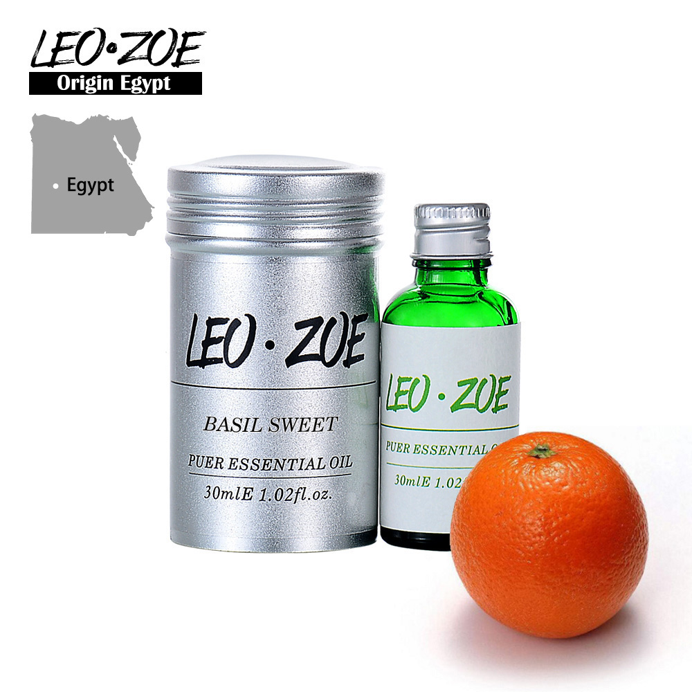 Well-Known Brand LEOZOE Basil Sweet Essential Oil Certificate Origin Egypt High Quality Aromatherapy Basil Sweet Oil 30ML