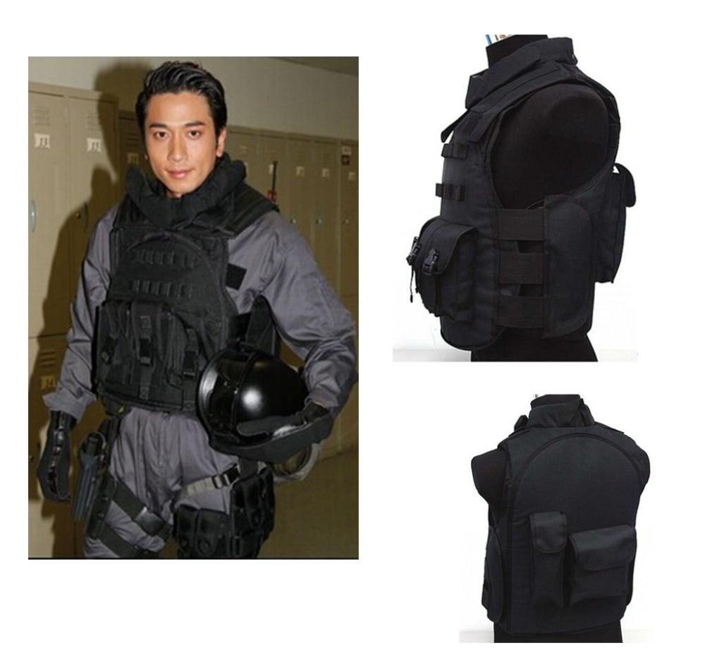 SWAT Airsoft Paintball Tactical Combat Assault Vest BLACK Tactical vest  free shipping f640dc8497e