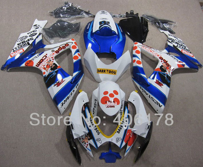 Hot Sales,ABS Fairing k6 GSX-R 600 750 For Suzuki GSXR 600/750 2006-2007 Doll Decal Motorcycle Fairing Kits (Injection molding)