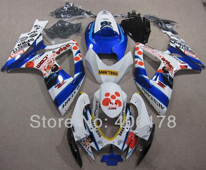 Горячие продаж,Зализа ABS к6 системы GSX-Р 600 750 для Suzuki GSXR 600/750 2006-2007 Кукла наклейки на мотоцикл обтекатель комплекты (литье под давлением)