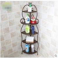Sitting room multi functional creative corner, wrought iron shelf floor kitchen tidy bathroom triangle receives storage shelves