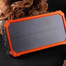 Solar Poverbank 10000mAh Power Bank Portable Mobile Charger Solar External Battery Powerbank For Xiaomi Redmi iPhone X XR Xs Max