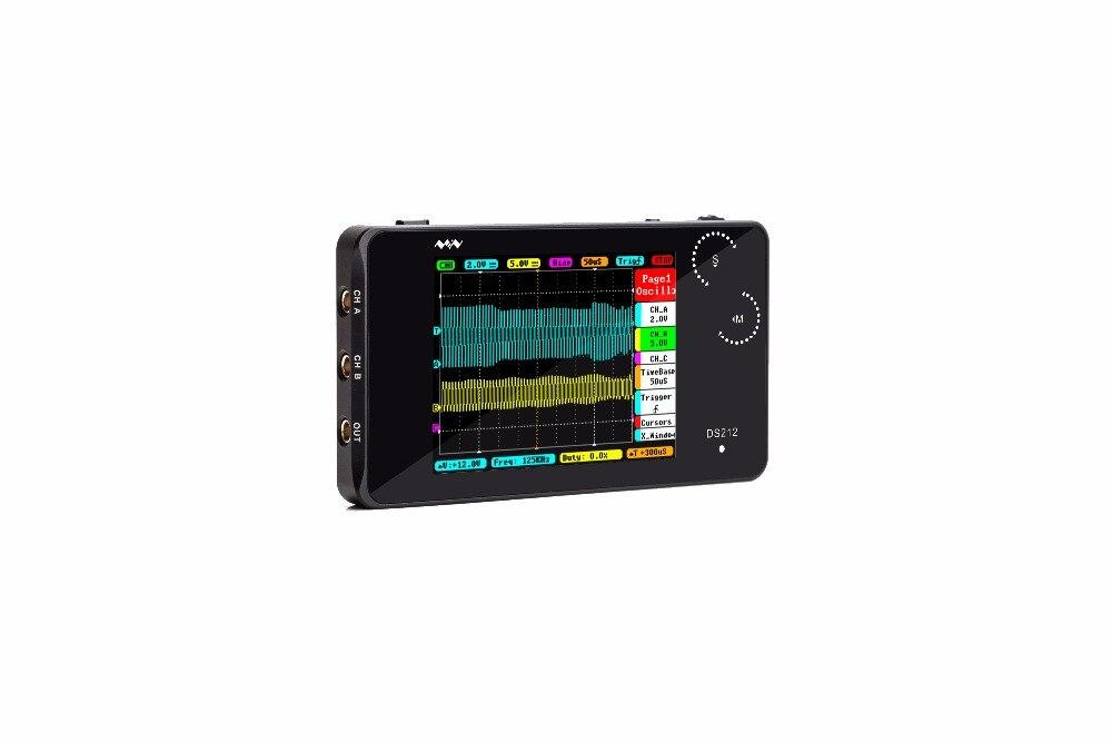 MiniDSO DSO202 Digital Multimeter Oscilloscope Touch Screen USB Portable DS202 1MHz Pocket 8MB LCD Automotive Osciloscopio