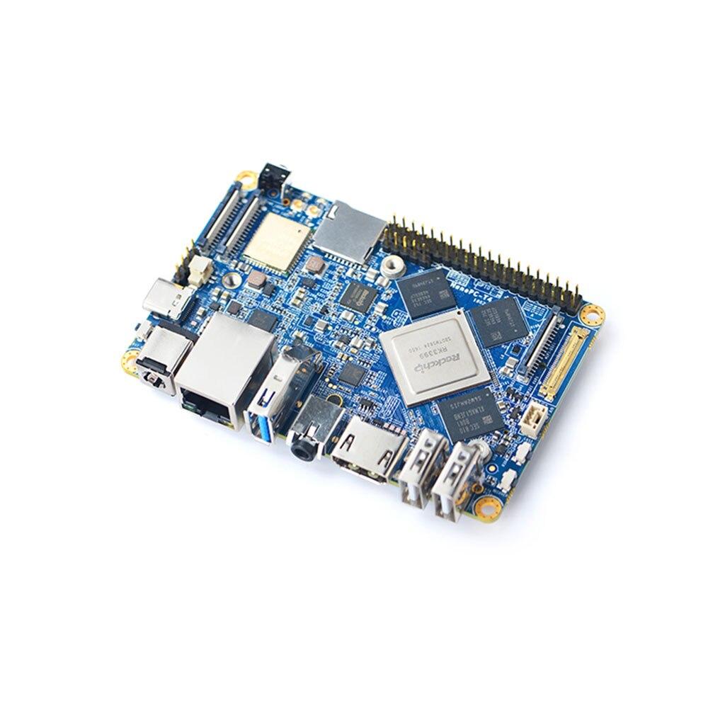NanoPC T4 Open Source RK3399 BRAS Conseil de Développement DDR4 RAM 4 GB Gbps Ethernet, Soutien Android 8.1 Ubuntu, AI et l'apprentissage en profondeur
