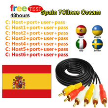 Europe HD cable CCCams for Satellite tv Receiver 4/6lines WIFI FULL HD DVB-S2 Support poland Spain line ccam Server tv receiver недорого
